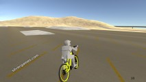 bicycle simulator yellow bike race