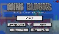 mine blocks start screen
