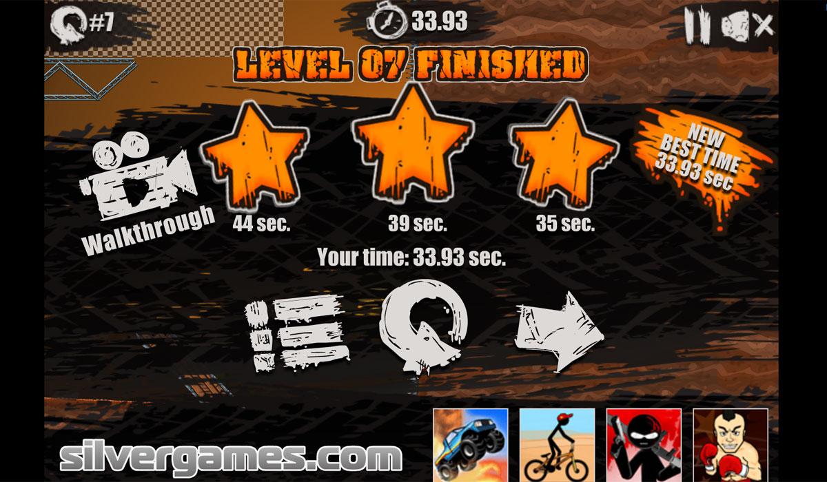 Desert Mode Play Level Finished Stars Map Moto X3m
